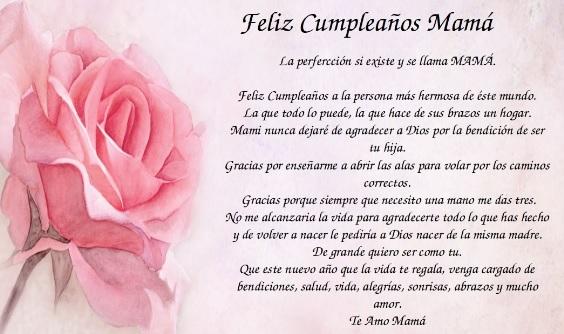 Cumpleaños feliz a ti mamá comprensiva