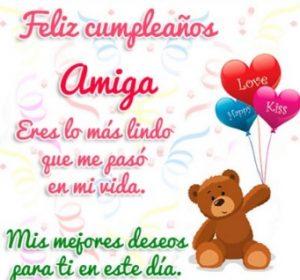 Cumpleaños Feliz A Ti Amiga Linda