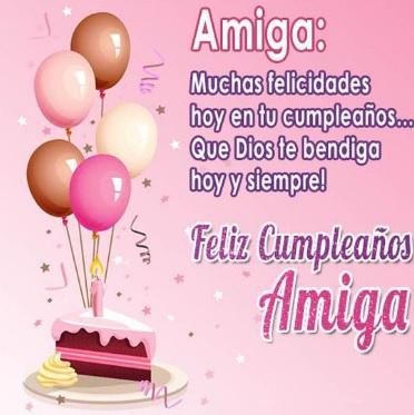 Cumpleaños Feliz A Ti Amiga Querida