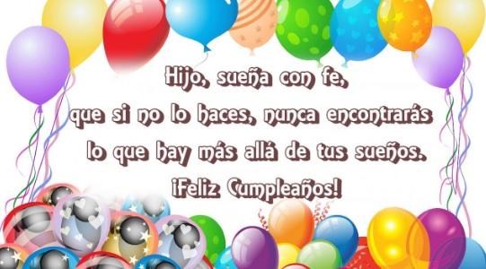 Cumpleaños Feliz A Ti Hijo Exitoso