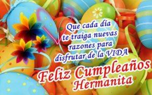 Cumpleaños Feliz A Ti Linda Hermana