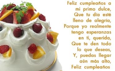 Cumpleaños Feliz A Ti Primo Dulce