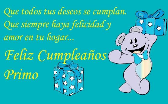 Cumpleaños Feliz A Ti Primo Optimista