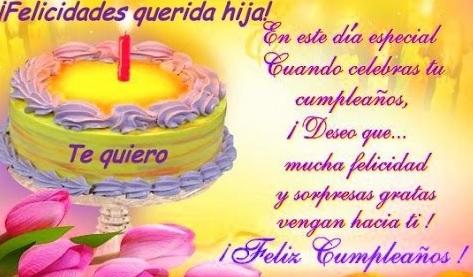 Cumpleaños Feliz A ti Amada Hija
