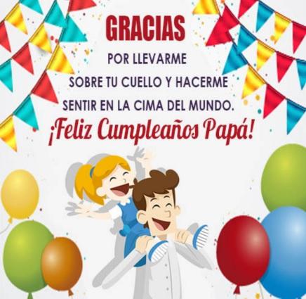 Cumpleaños Feliz A Tí Admirable Papá