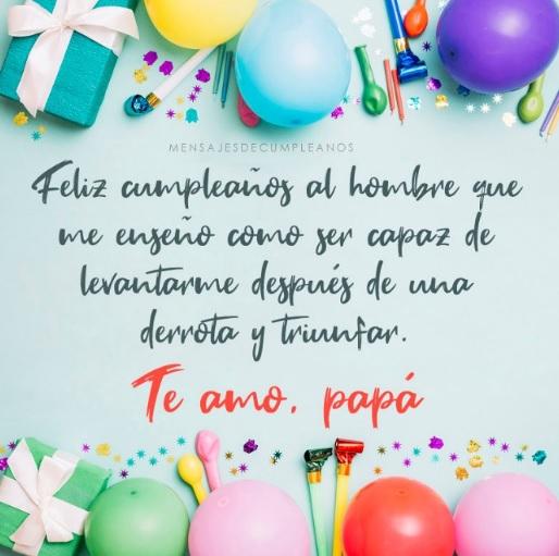 Cumpleaños Feliz A Tí Papá Ejemplar