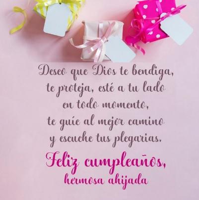 Cumpleaños Feliz A Ti Ahijada Hermosa