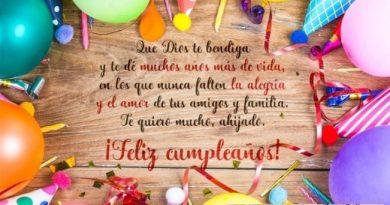 Cumpleaños Feliz A Ti Ahijado Querido