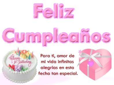 Cumpleaños Feliz A Ti Amorcito