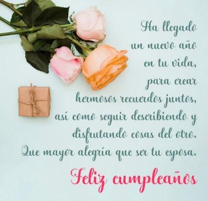 Cumpleaños Feliz A Ti Esposo Perfecto