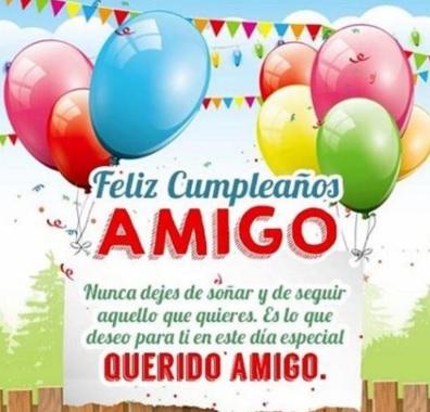 Cumpleaños Feliz A Ti Estimado Amigo