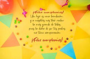 Cumpleaños Feliz A Ti Hijo Bondadoso