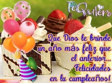 Cumpleaños Feliz A Ti Mi Pedacito de Cielo