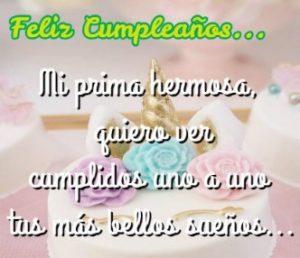 Cumpleaños Feliz A Ti Prima Perseverante