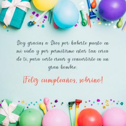 Cumpleaños Feliz A Ti Sobrino Admirable