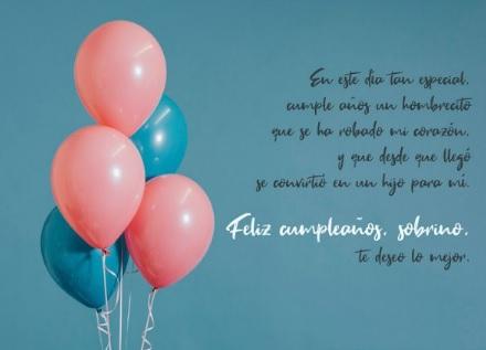 Cumpleaños Feliz A Ti Sobrino Encantador