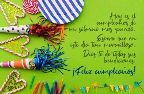 Cumpleaños Feliz A Ti Sobrino Querido
