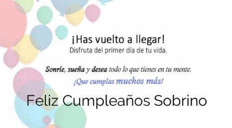 Cumpleaños Feliz A Ti Sobrino Travieso