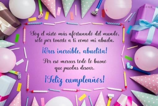 Cumpleaños Feliz A ti Abuelita Increíble