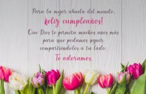 Cumpleaños Feliz A ti Abuelita Romántica