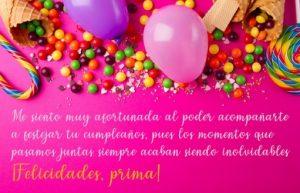 Cumpleaños Feliz A ti Prima Alegre