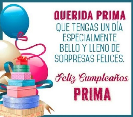 Cumpleaños Feliz A ti Prima Colaboradora