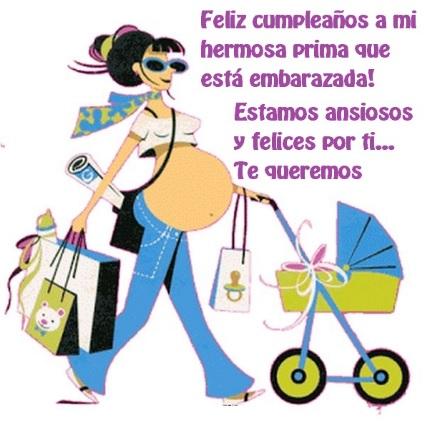 Cumpleaños Feliz A ti Prima Embarazada