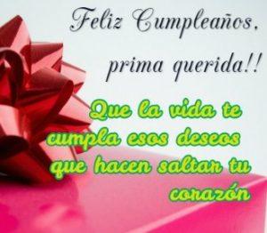 Cumpleaños Feliz A ti Prima Soñadora