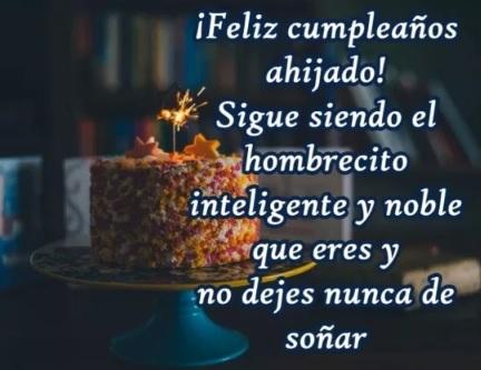 Cumpleaños feliz A Ti Ahijado Admirable