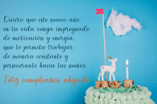 Cumpleaños feliz A Ti Ahijado Ejemplar