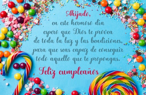 Cumpleaños feliz A ti Ahijado Soñador