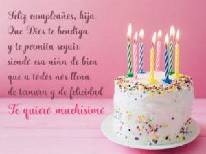 Cumpleaños Feliz A Ti Hija Encantadora