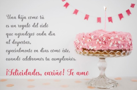 Cumpleaños Feliz A Ti Hija Querida
