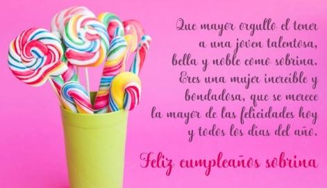 Cumpleaños Feliz A Ti Sobrina Noble