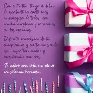 Cumpleaños Feliz A Ti Sobrina Perseverante