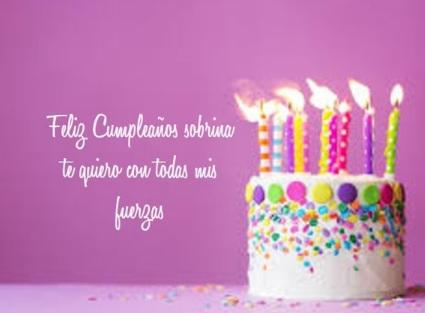 Cumpleaños Feliz A Ti Sobrina Querida