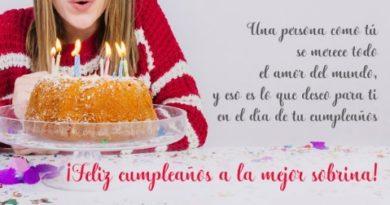 Cumpleaños Feliz A Ti Sobrina Talentosa