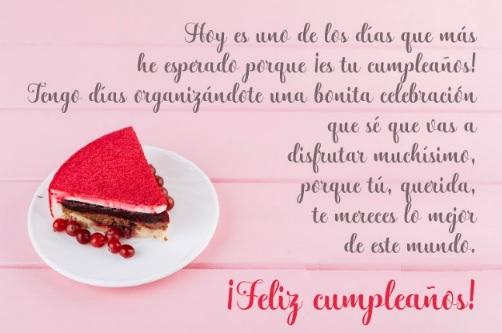 Cumpleaños feliz a ti amor Mío