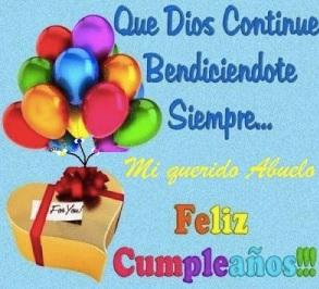 cumpleaños feliz a ti abuelo Admirable
