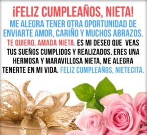 feliz cumpleaños nieta querida