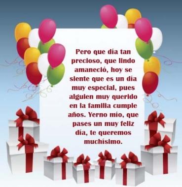 Cumpleaños Feliz A Ti querido Yerno