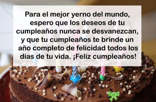 Cumpleaños Feliz A Ti yerno maravilloso