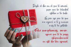 Cumpleaños feliz a ti Amor