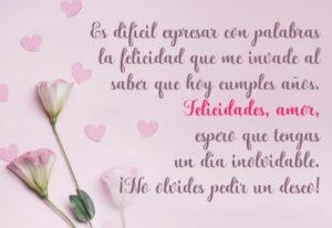 Cumpleaños feliz a ti Amor de mi Vida