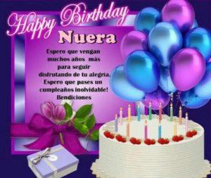 Cumpleaños feliz a ti nuera apreciada