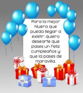 Cumpleaños feliz a ti nuera maravillosa
