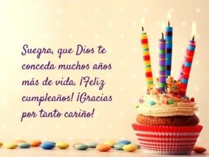 Cumpleaños feliz a ti suegra apreciada