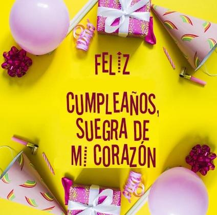 Cumpleaños feliz a ti suegra de mi corazón