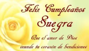 Cumpleaños feliz a ti suegra maravillosa