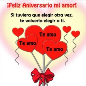 Feliz aniversario corazón